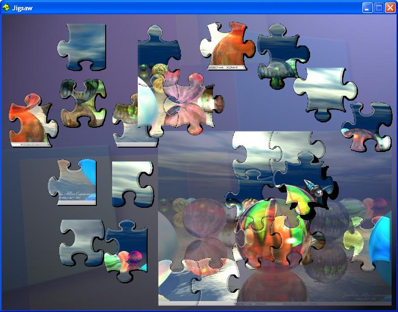 Jigsaw puzzle prototype screenshot